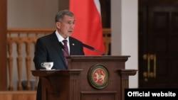 Tatarstan President Rustam Minnikhanov, delivers his annual address to the Russian parliament on September 21.