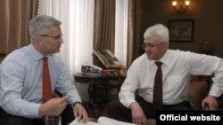 Guverner Centralne banke Crne Gore Ljubiša Krgović i srpski guverner u ostavci Radovan Jelašić, arhivska fotografija