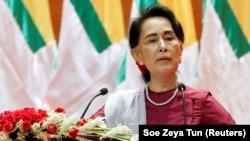Аун Сан Су Чжи, 19 сентября 2017 года.