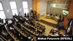 Sjednica Skupštine Kantona Sarajevo na kojoj su razriješeni ministri iz SDA