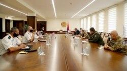 ՀՀ զինուժի ղեկավարները հանդիպել են Հայաստանում Մինսկի խմբում համանախագահող երկրների դեսպանների ու ռազմական կցորդների հետ