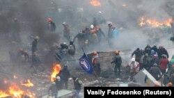 Сутички під час акцій протесту в Києві, архівне фото