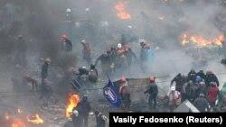 Архіўнае фота: украінскі Майдан - пратэсты ў Кіеве. 20 лютага 2014 году