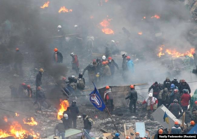 Революція гідності. Київ, майдан Незалежності, 20 лютого 2014 року