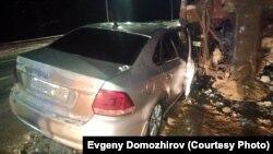 Автомобиль Доможировых после аварии