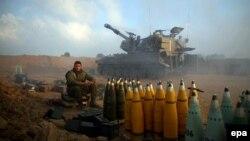 Войска Израиля на границе сектора Газа