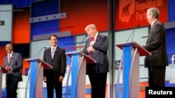 Հանրապետական կուսակցության նախագահական հավակնորդները Քլիվլենդում կայացած բանավեճին, ԱՄՆ, 6-ը հուլիսի, 2015թ․