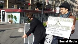 """Акция движения """"Весна"""" в Петербурге, 4 октября 2015 года"""