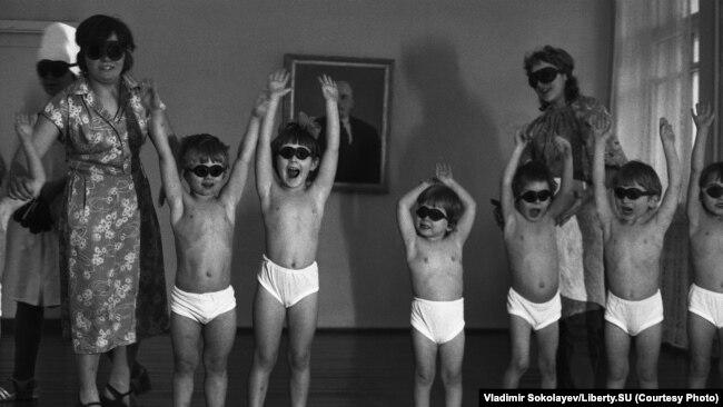 Кварцевание. Детский дом на улице Суворова. 22.01.1981