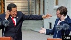 Вместе против Америки - Уго Чавес и Дмитрий Медведев в Барвихе