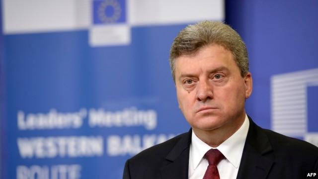 Macedonian President Gjorge Ivanov