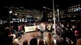 تجمع مردم علیه اعطای جایزه نوبل به پتر هانتکه، استکهلم