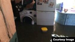 Затопленный дом в забайкальской Шилке