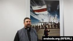 Архіяпіскап Сьвятаслаў Логін у штаб-кватэры Радыё Свабода ў Празе.