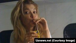 Gulnara Karimova is shown in a photo from her time under house arrest (file photo).
