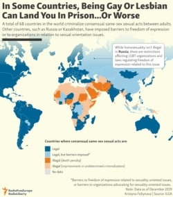 INFOGRAPHIC: In Some Countries, Being Gay Or Lesbian Can Land You In Prison...Or Worse