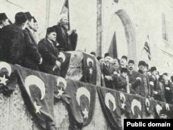 لحظه اعلان جنگ علیه متفقین در استانبول