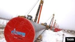 Строящийся газопровод на территории России