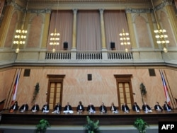 Заседание Конституционного суда Чехии. Иллюстративное фото.