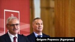 Liviu Dragnea și Mircea Drăghici, trezorierul PSD.