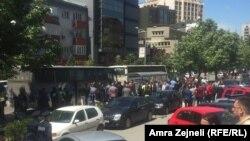 Pamje nga protesta e sotme në Prishtinë, 24 maj 2016