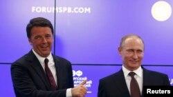 Маттео Ренци и Владимир Путин