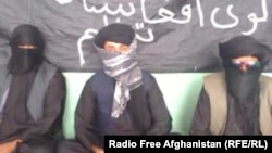 Unidentified Afghans claiming to represent a group called the Islamic Organization of Great Afghanistan, a purported militant organization they say is ready to fight for the Islamic State militant group.