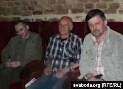 Адам Паморскі, Алесь Разанаў, Ян Максімюк. Уроцлаў, чэрвень 2007