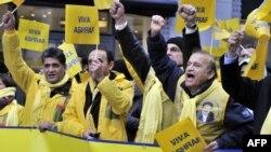 Иранские диссиденты вышли на демонстрацию в Брюсселе во время проводившейся там встречи министров иностранных дел Евросоюза