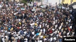 Aнтивладини протести во Хула во град што се наоѓа во близина на Хомс