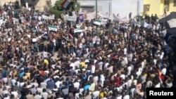 Одна из акций протеста в Сирии