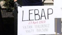 Demirgazyk Kiprdäki türkmenler ýene protest geçirdi (WIDEO)