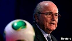 ФИФА президенті Зепп Блаттер.