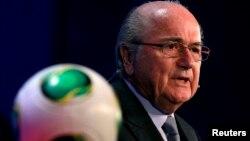 Претседателот на светската фудбалска федерација ФИФА Сеп Блатер.