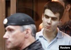 Денис Луцкевич в суде, июнь 2013 года