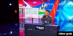 """Бердібек Дәулетбекұлының """"Mongolia's got talent"""" телешоуына қатысып жатқан сәт."""