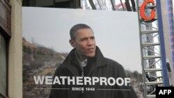 Afiș la New York cu președintele Obama