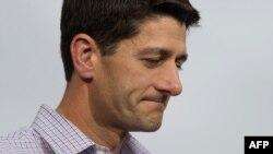 Пол Райан, кандидат в вице-президенты от республиканской партии в Висконсине 12 августа 2012 года.