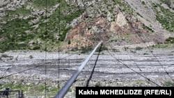 """საქართველო-რუსეთის დამაკავშირებელი გაზსადენი, რომლის მეშვეობითაც """"გაზპრომის"""" გაზის ტრანსპორტირება ხორციელდება."""