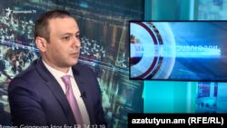 Секретарь Совета безопасности Армении Армен Григорян в студии Азатутюн ТВ, Ереван, 24 декабря 2019 г.