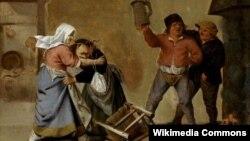 Пітэр Куаст, «Бабская сварка», XVII стагодзьдзе