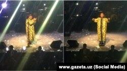 Выступление Робби Уильямса в Ташкенте, 15 декабря 2017 года.