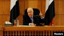 Сирискиот министер за надворешни работи Валид ал-Муалем.