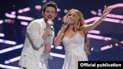 Azerbaijan won hosting rights for this year's Eurovision Song Contest after the country's entry into last year's contest, Ell & Nikki (above), took home top honors.