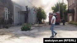 Пожар в Гюмри, 9 августа 2016 г.