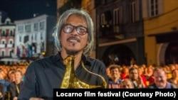 Filippinli rejissor Lav Diaz Lokarna film festivalında.