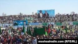 خوست کې د ډاکټر زلمي انتخاباتي غونډه. ۳۱م مارچ