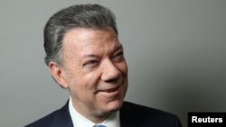 Президент Колумбии Мануэль Сантос.