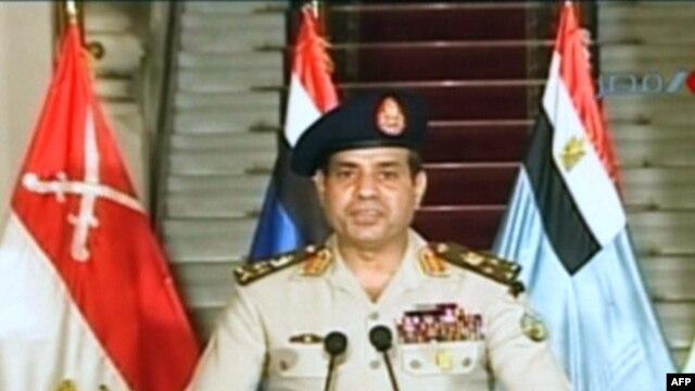 Egyptian Defence Minister Abdel-Fattah al-Sissi