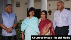خانم هندی که چندی پیش ربوده شده و رها شد.
